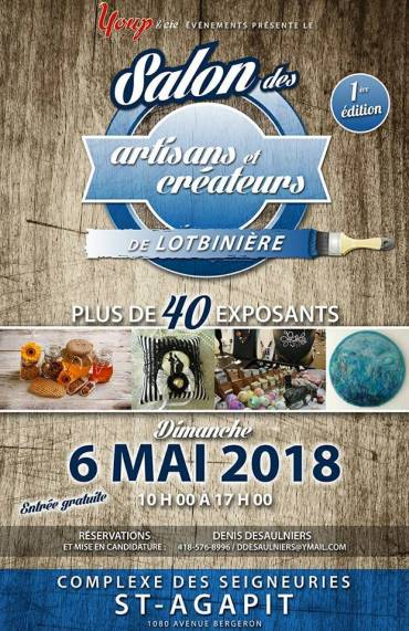 Chritine Sarpentier au Salon des artisans et créateurs de Lotbinière (6mai)