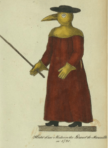 Costume de médecin de lazaret à Marseille en 1720